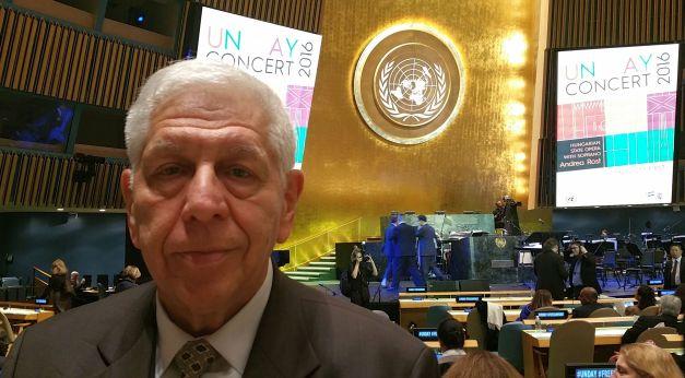 2016. Október 24. Tudósítóként az ENSZ-ben, október 23-a hatvanadik évfordulóján a nagysikerű magyar koncerten.