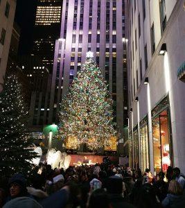 Évek óta, amióta New Yorkból tudósítok, nemcsak nekem, de szinte minden nagy alma lakónak kedvenc karácsonyi szórakozása a város kirakatainak megtekintése. Különösen az ötödik, s a hatodik sugárút kirakatai a legnépszerűbbek. Ide vándorolnak a legtöbben, s persze nem kihagyható a város karácsonyfája sem, a Rockefeller Center méltán népszerű jégpályájánál.Évek óta, amióta New Yorkból tudósítok, nemcsak nekem, de szinte minden nagy alma lakónak kedvenc karácsonyi szórakozása a város kirakatainak megtekintése. Különösen az ötödik, s a hatodik sugárút kirakatai a legnépszerűbbek. Ide vándorolnak a legtöbben, s persze nem kihagyható a város karácsonyfája sem, a Rockefeller Center méltán népszerű jégpályájánál. A tömeg, különösen karácsony este, a St. Patrick székesegyház délutáni Istentisztelete utáni időszakban a legnagyobb.